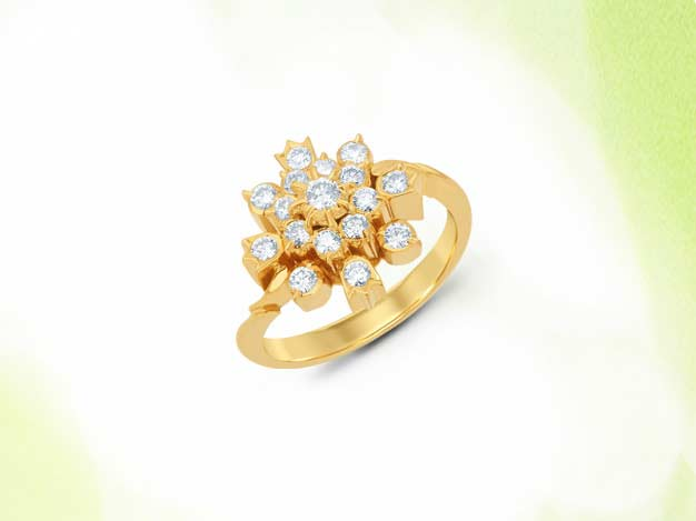 kiran jewels, kiran jewels jewellery, kiranjewels jewellery, ira, ira jewellery, ira ring design, ira indian jewellery, ring design, flower ring, diamond ring, gold ring, gold motif ring, traditional jewelley manufacturers mumbai, gold jewellery manufacturers mumbai, brij design studio